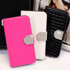 Crocodile-Leather-Flip-Wallet-Case-with-Bling-Buckle-for-Samsung-G-S3-i9300