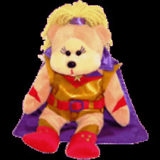 "SKANSEN BEANIE KID ""POWERGIRL THE WONDER BEAR""   MINT WITH MINT TAG MARCH  2012"