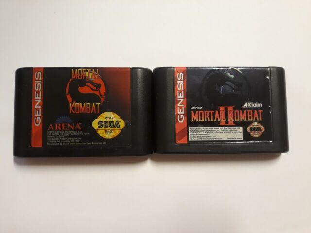 Mortal Kombat 1 & 2 (Sega Genesis, 1993) Cleaned and Tested
