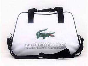 LACOSTE-PARFUMS-L-12-12-WHITE-MENS-SPORT-GYM-BAG-NEW