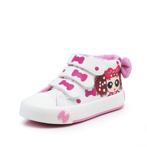 Baby Toddler Children Kid Girl Canvas Shoes Floral Casual Sneaker Boots Flats