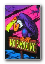NO SMOKING - VULTURE - BLACKLIGHT POSTER - 24X36 FLOCKED 1902