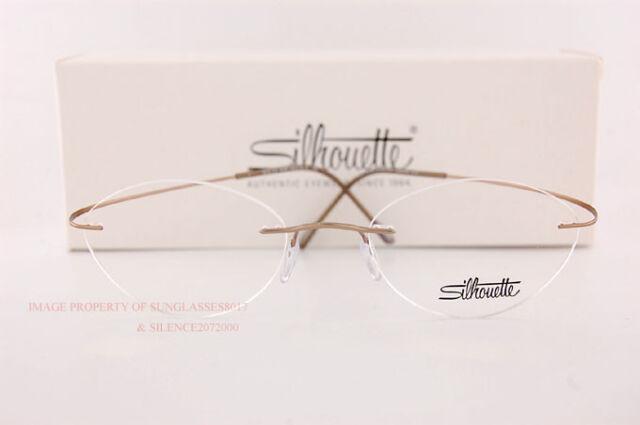 0dc8ac756b Silhouette Eyeglass Frames TMA Must Collection 5515 CV 8540 Matte Gold Sz  50 for sale online