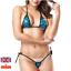 Sexy-Micro-Bikini-Shiny-Pattern-Women-Brazilian-G-StringThong-Swimwear-Swimsuit miniatura 7