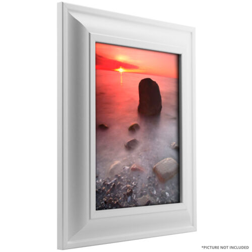 """Craig Frames 2/"""" Wide Contemporary Satin White Picture Frames /& Poster Frames"""