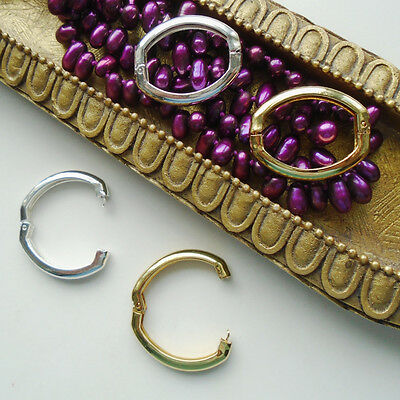 Kettenverkürzer Verschluss Perlenkette Kette Halskette Silber Gold plattiert neu