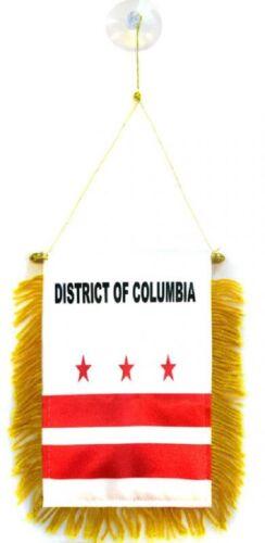 Washington DC MINI BANNER FLAG GREAT FOR CAR /& HOME WINDOW MIRROR 2 SIDE