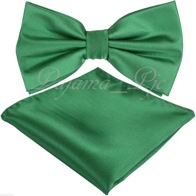 New Men Solid Plain Tan Gold Butterfly Bow tie And Handkerchief Set Wedding Prom