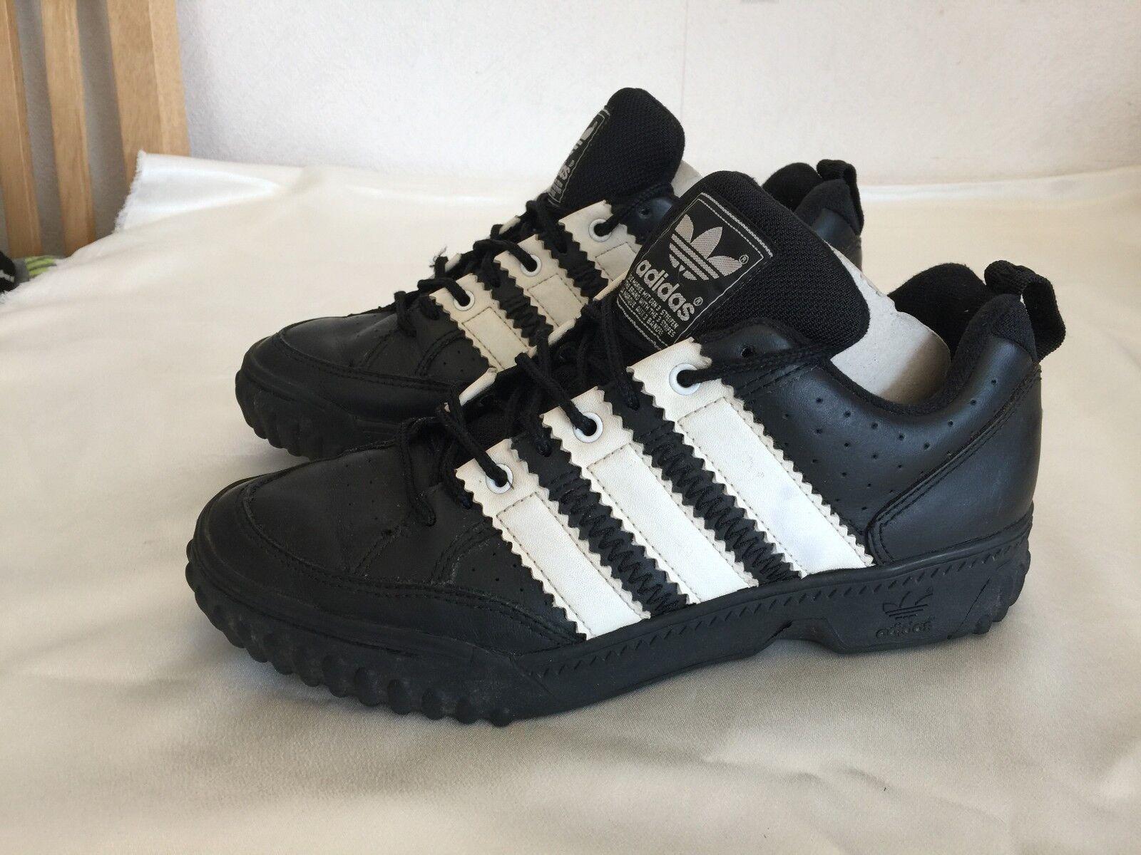 Vintage Adidas trainersTHE marca tres rayas 3 de rayas Coleccionable Original *