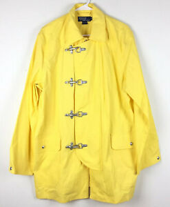 VTG-90-039-s-Polo-Ralph-Lauren-YELLOW-100-Cotton-Fireman-Parka-Sailing-Jacket-Sz-M