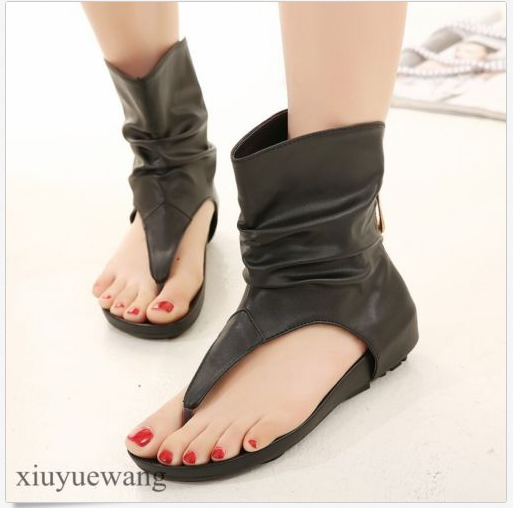 Womens Ladies Thongs Gladiator Vogue Ankle Boots Sandal Flats Casual Roma Shoes