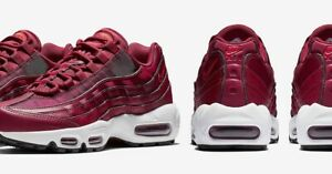 how to buy quality wholesale Details about NIKE AIR MAX 95 WOMEN'S RUNNING SHOES RED BURGUNDY WHITE  MAROON 307960605