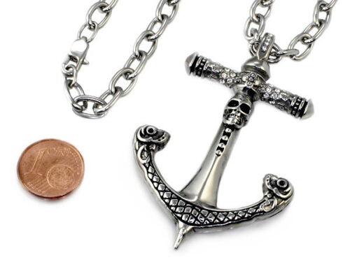 N304 acier inoxydable pendentif ancre ancre chaîne hommes collier Necklace men