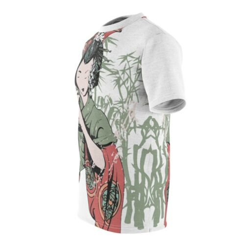 Japanese Woman With Parasol Unisex T-shirt Vintage Inspired