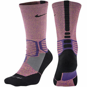 special section pretty cool cheap Details about Nike Hyper Crew Triple Crossover Basketball Socks SX5386-547  Size L (8-12)