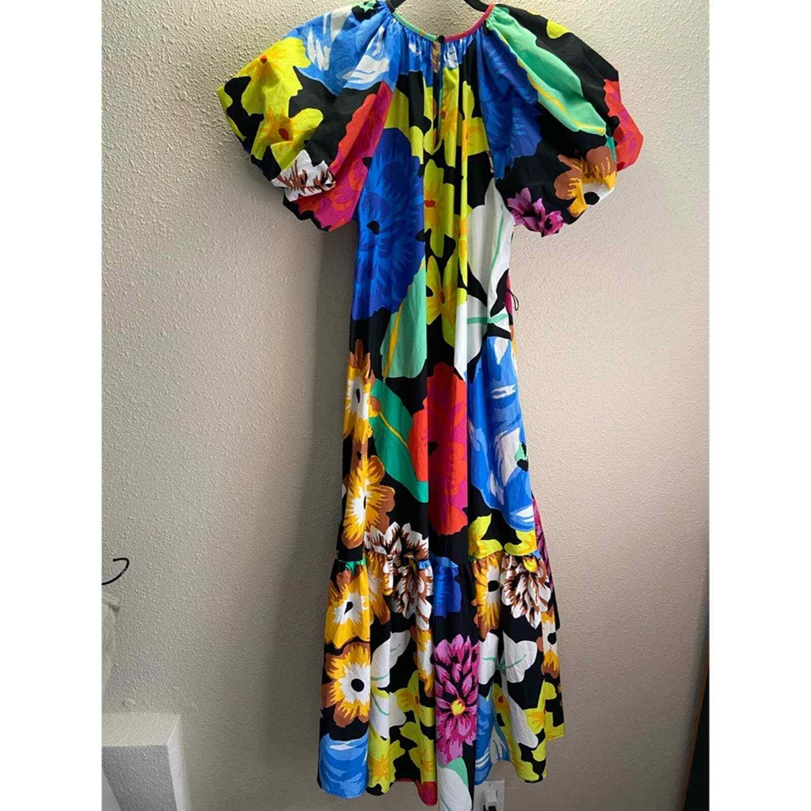 Christopher John Rogers Floral Puff Sleeves Dress - image 6