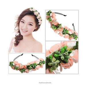 8f4e00a2569899 Das Bild wird geladen Haarreif-HOCHZElT-Haarkranz-Blumenkranz-Haarband- Blueten-Stirnband-Blumen-