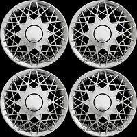 4 Chrome Wire Web Spoke 16 Hub Caps Full Wheel Covers Rim Cover Hubs 150c