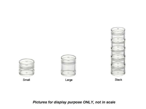 MUJI Japan Sample /& Travel Size Acrylic Clear Case Small Large Stack