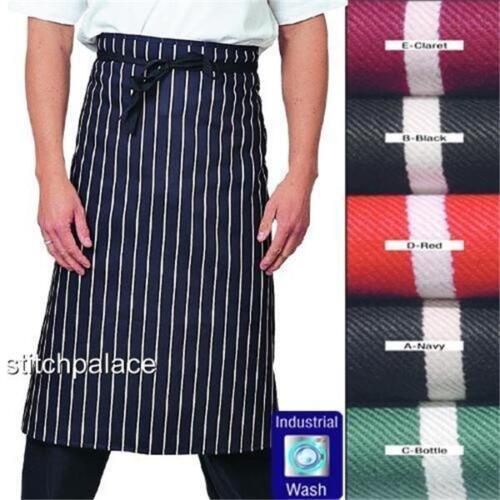 "Denny/'s Cotton Printed Waist Striped Butchers Apron 36/""x30/"""
