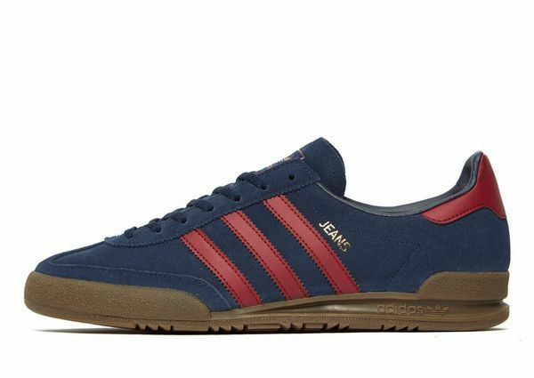 Adidas Originals Jeans Blue Suede Red Stripes (UK 13) Box New in Box 13) 361526