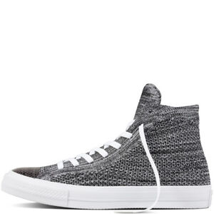 1836405d4f02 Converse Chuck Taylor All Star X Flyknit Mens Black Wolf Grey White ...