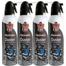 New 4 Pack Dust-Off Falcon Compressed Air Gas Duster 100% Ozone Safe