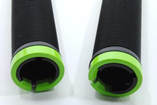 Black//Green Velo Locking Bicycle Handebar Grips