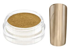 Nailart Mirror Chrome Puder gold Nagel Pulver Pigment Spiegel Glanz Gel UV LED