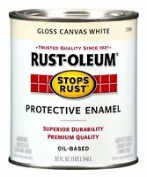 Rust-oleum 7789502 Stops Rust, 32 Oz. Quart, Gloss Canvas White, New, Free Shipp on sale