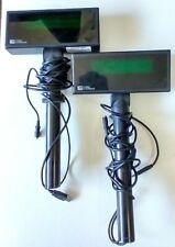Pair Of Pos Customer Pole Display Logic Controls Pd3900ubk