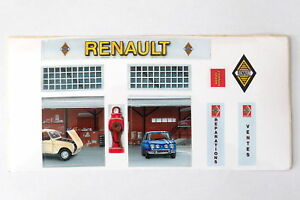 Norev Ancien Autocollants Pour Façade Garage Renault Diorama Ebay
