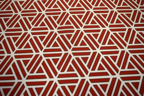 """SWAVELLE MILL CREEK SEMMLER RED INDOOR OUTDOOR HOME DECOR FABRIC 54/"""" W"""