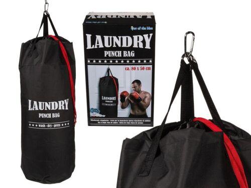 Hanging laundry sac de lavage Wash sac sac de boxe Sac Vêtements Stockage Noir Fun