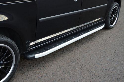 Barras laterales de aluminio pasos que ejecutan las placas para caber SWB VOLKSWAGEN CADDY 2004-15