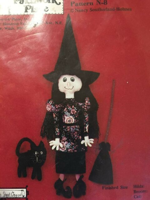 Hilda B. Haggly Witch Doll Pattern The Patchwork Place Pattern N8