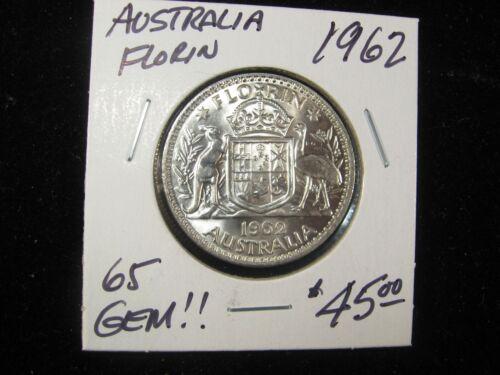 1962 AUSTRALIA FLORIN SUPER NICE GEM!!!!!