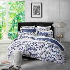 FLORENCE BROADHURST TROPICAL FLORAL NAVY King Size Doona  Duvet  Quilt Cover Set