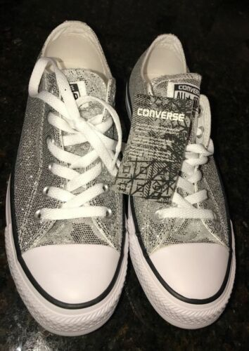 Converse Glitter Silver All Star Ox 135851 RARE Women/'s NEW