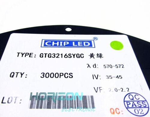 100 pcs GREEN LED lamp Bulb SMD SMT 1206 Super bright