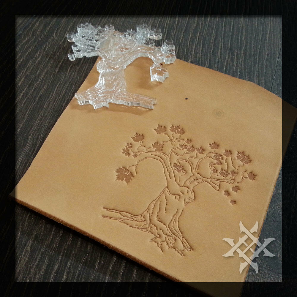 Stylish Tree Leathercraft Embossing Stamp For embossing VegTan Tooling Leather