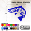 TROUT FISH Sticker//Decal Any Colour Fishing//Angling Van//Car//Window//Tackle Box