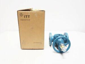 ITT 1-2441-M-903 Dia-FLO Manual Iron FLANGED Diaphragm Valve 1IN