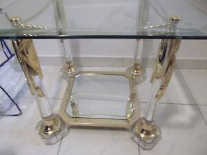 Couchtisch gold glas