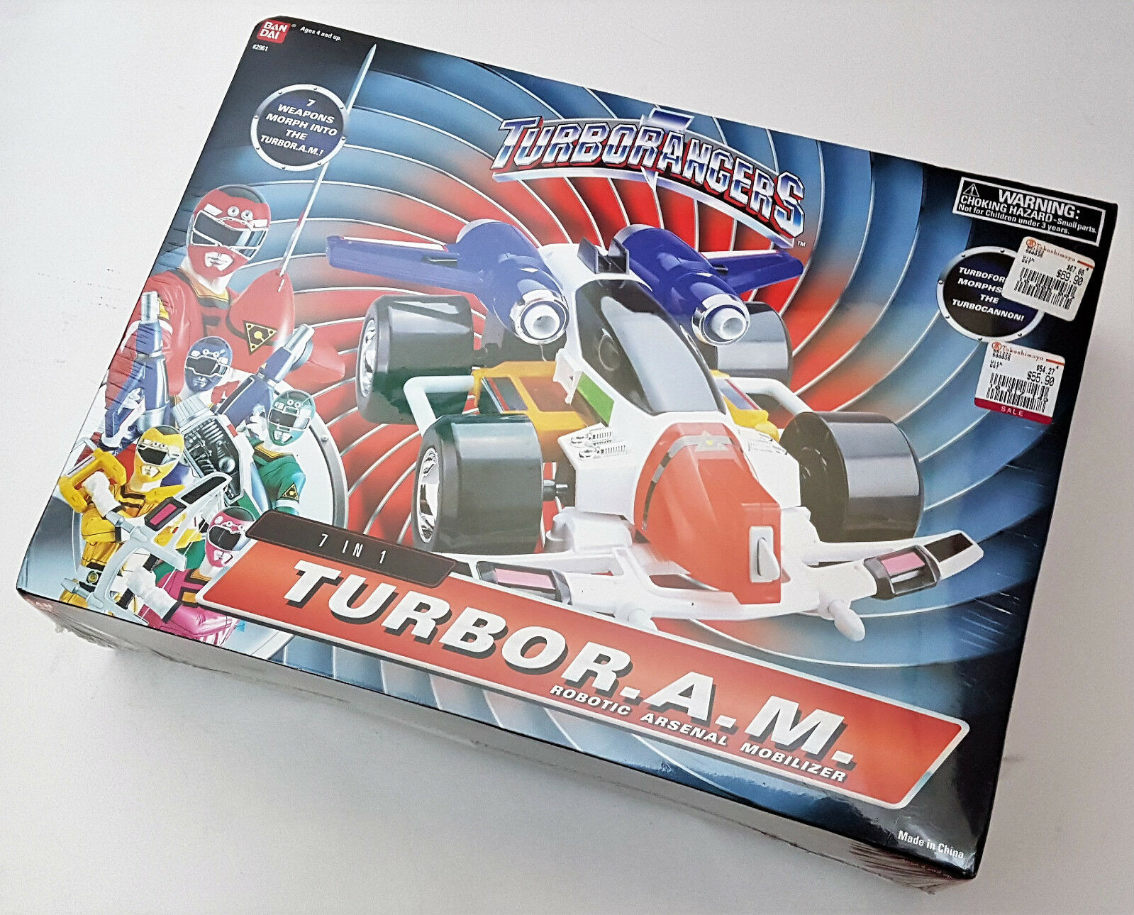 Bandai Power Rangers Turbo 7 In 1 Turbo R.A.M. Robotic Arsenal Mobilizer (New)