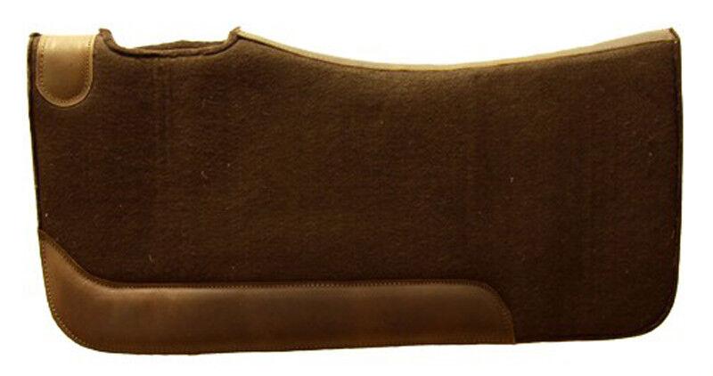 Western Sattelpad aus Filz hoher Qualität, brown, mit  Neopren  online shopping sports