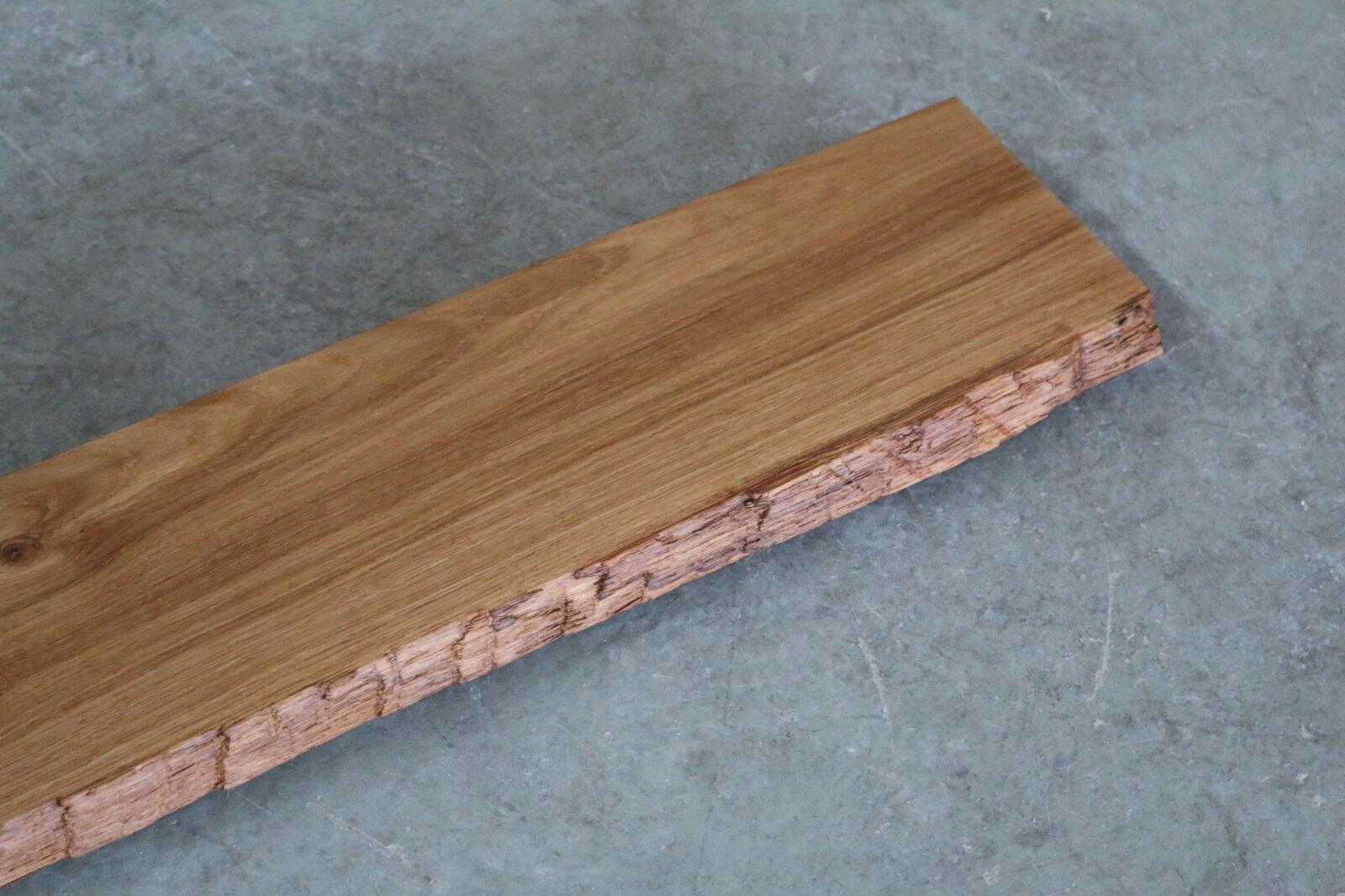 Fensterbank Eiche Wild Massiv Holz mit Baumkante Fensterbrett Brett Bohle NEU