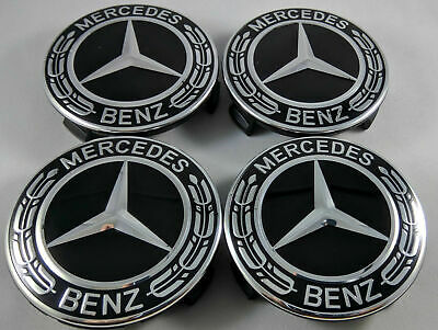 4pcs 75mm 3 pin Wheel center Hub Caps Cover cap Car Logo Emblem For Mercedes