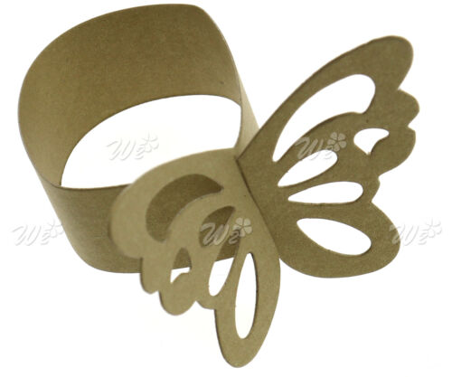 50-pcs Papier Serviettenring Serviettenhalter Weiß//Gold//Rosa//Silber//Blau//Lila