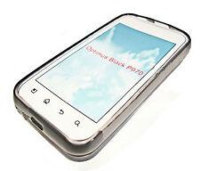Silikon TPU Handy Hülle Cover Case Schalle in Smoke für  LG P970 Optimus Black